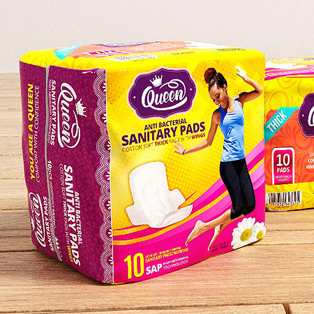queen sanitary pad